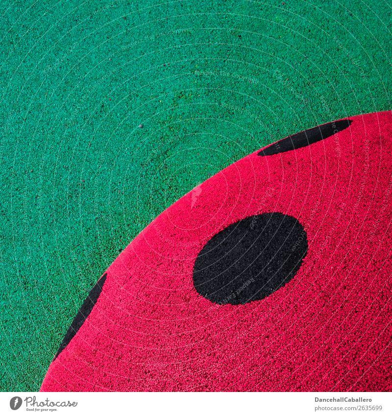 Die wunderbare Welt der Geometrie l 10 Käfer Marienkäfer Zeichen rund grün rot schwarz Kreis Design Kreativität graphisch Grafische Darstellung Muster Punkt