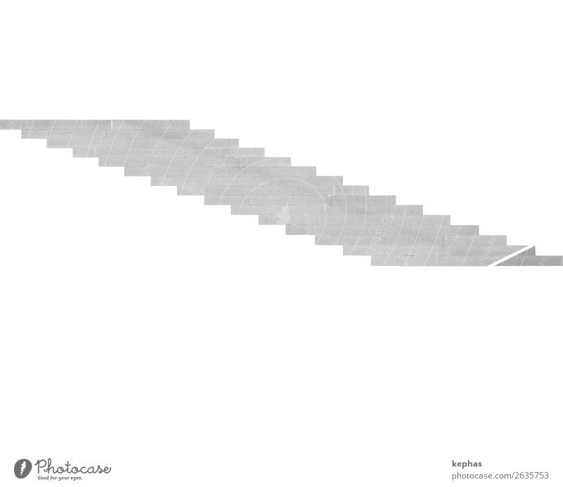 abwärts aufwärts Stadt weiß schwarz Architektur Wand kalt Mauer grau Treppe modern ästhetisch seriös puristisch