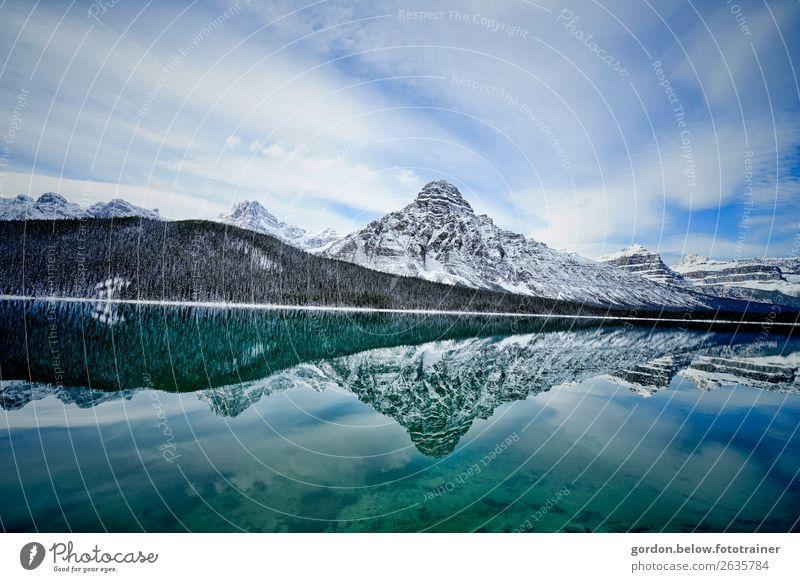Spiegelungen Himmel Natur Pflanze blau Wasser Landschaft weiß Wolken Berge u. Gebirge schwarz Frühling Glück außergewöhnlich Stein braun grau