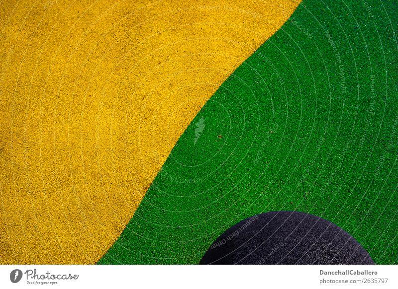 Die wunderbare Welt der Geometrie l 8 Lifestyle elegant Design Wellen Verkehr Straße Linie ästhetisch trendy Kitsch modern gelb grün Perspektive Farbstoff