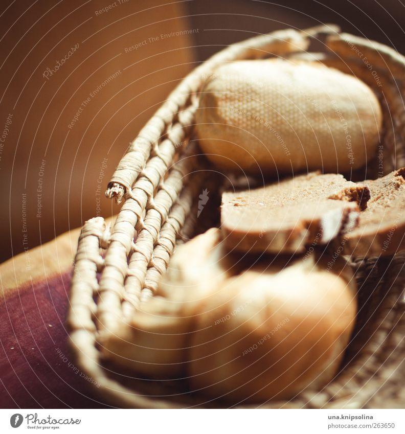 backwarenpotpourri Lebensmittel Teigwaren Backwaren Brot Brötchen Ernährung Frühstück Brotkorb frisch lecker Farbfoto Gedeckte Farben Innenaufnahme Menschenleer