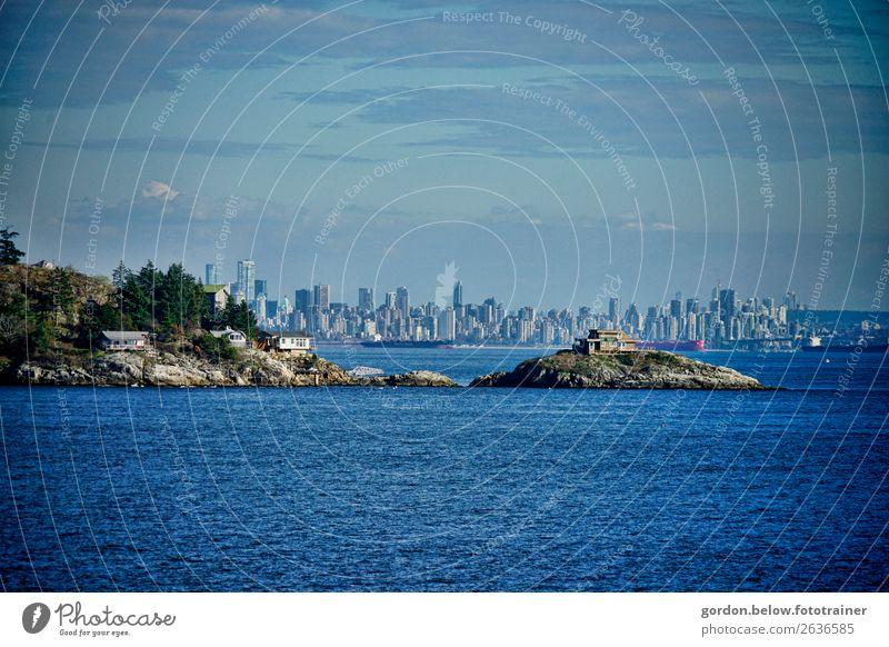 #Kanada /Skyline Vancouver Reichtum Ferien & Urlaub & Reisen Tourismus Ausflug Abenteuer Ferne Expedition Landschaft Pflanze Urelemente Wasser Himmel Wolken