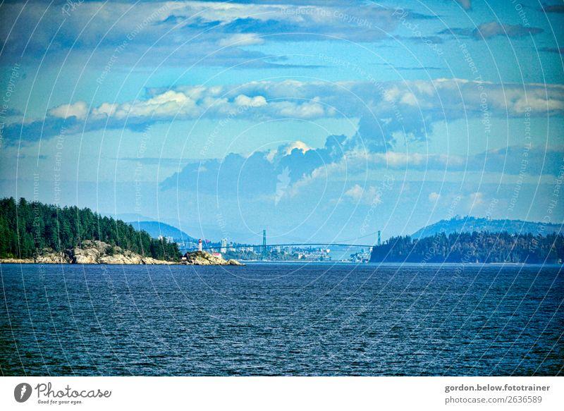#Kanada /Vancouver Island/British Columbias Natur Landschaft Pflanze Urelemente Erde Wasser Himmel Wolken Sonnenlicht Herbst Schönes Wetter Baum Wildpflanze