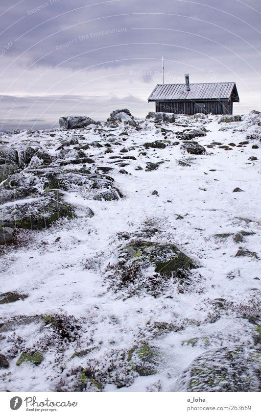 i still remember Natur Landschaft Urelemente Himmel Wolken Winter schlechtes Wetter Eis Frost Schnee Moos Felsen Berge u. Gebirge Gipfel Schneebedeckte Gipfel