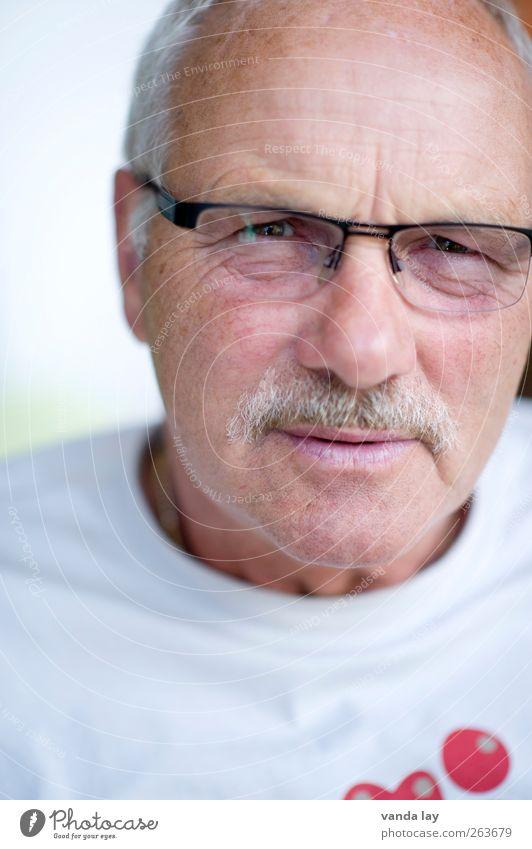 Best Ager Mensch Mann alt Gesicht Erwachsene Senior maskulin Brille T-Shirt Vertrauen 45-60 Jahre 60 und älter Bart Männlicher Senior Ruhestand Sympathie