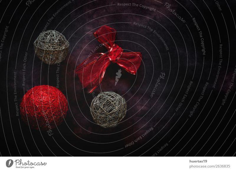 Weihnachtshintergrund mit Dekorationen elegant Stil Design Freude Winter Dekoration & Verzierung Schreibtisch Feste & Feiern Weihnachten & Advent