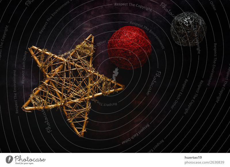 Weihnachten & Advent rot Winter dunkel Religion & Glaube Stil Feste & Feiern Kunst oben Design Dekoration & Verzierung gold elegant Kreativität Postkarte