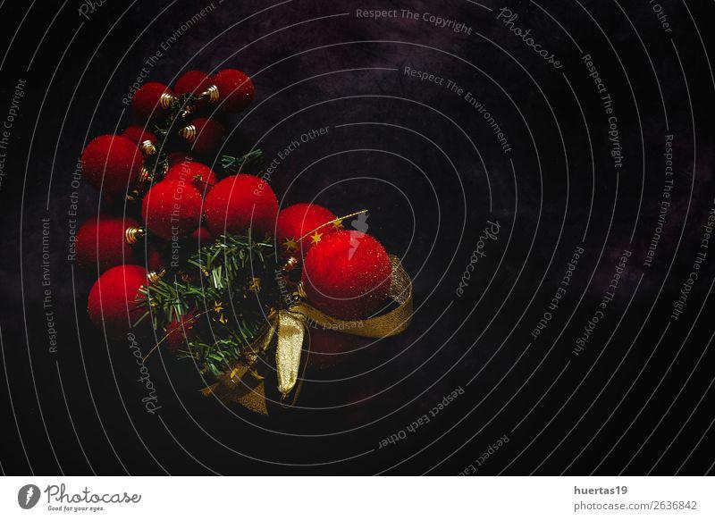 Weihnachtshintergrund mit Dekorationen elegant Stil Design Winter Dekoration & Verzierung Schreibtisch Feste & Feiern Weihnachten & Advent Silvester u. Neujahr