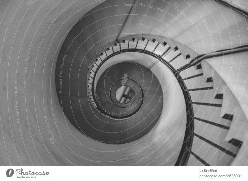 Turbinentreppe SW Lyngvig Dänemark Turm Leuchtturm Bauwerk Architektur Treppe Sehenswürdigkeit Wahrzeichen Stein Beton Holz Metall ästhetisch authentisch