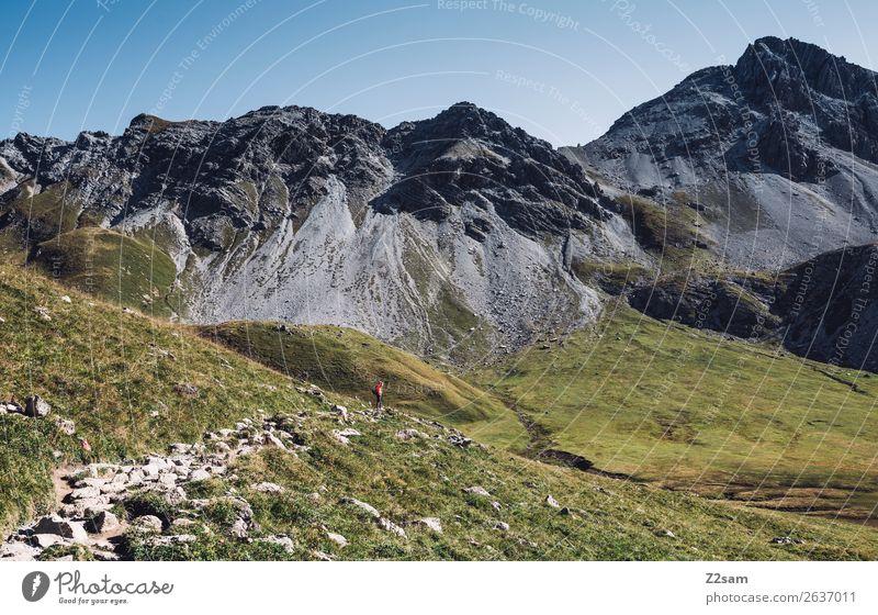 Lechtaler Alpen | E5 Mensch Natur Ferien & Urlaub & Reisen Sommer grün Landschaft Einsamkeit Berge u. Gebirge Wege & Pfade Freizeit & Hobby wandern Idylle