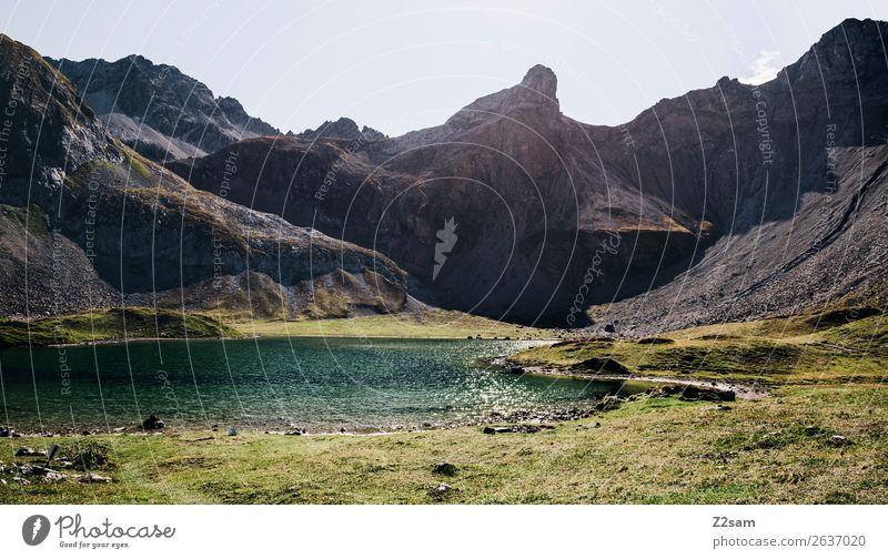 Gebirgssee | Seescharte AT Natur Ferien & Urlaub & Reisen Sommer grün Landschaft Einsamkeit Berge u. Gebirge Umwelt natürlich wandern Idylle Abenteuer