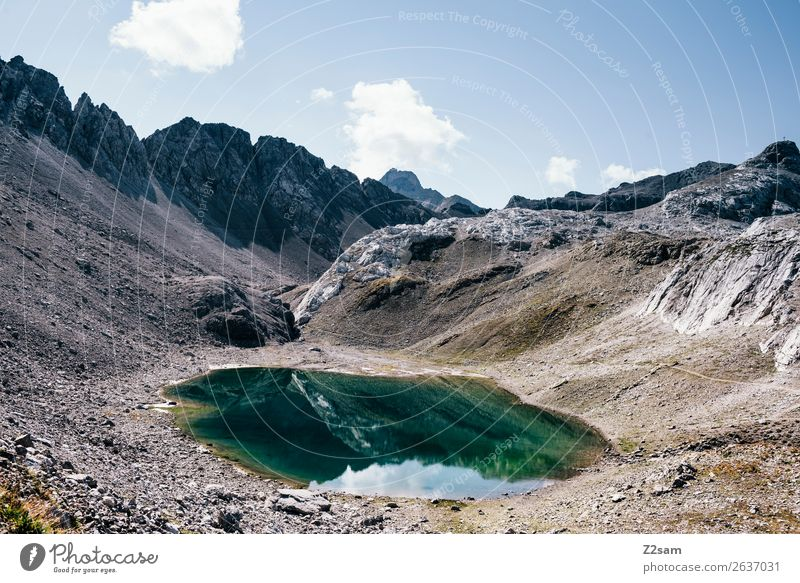 Oberer Seewisee | Seescharte Abenteuer wandern Natur Landschaft Sommer Schönes Wetter Alpen Berge u. Gebirge Gipfel Gebirgssee gigantisch hoch nachhaltig