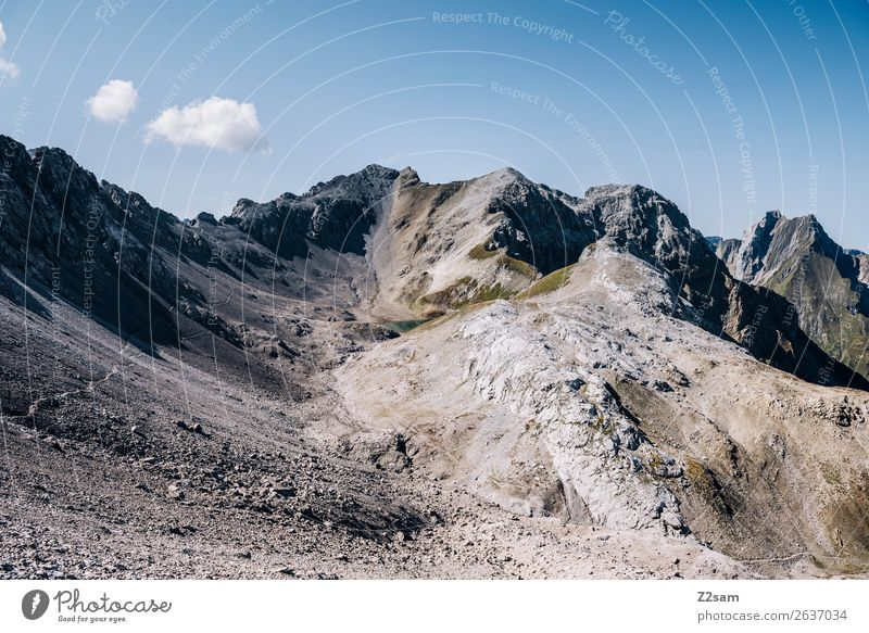 Seescharte | E5 Ferien & Urlaub & Reisen Abenteuer Berge u. Gebirge wandern Natur Landschaft Sommer Schönes Wetter Felsen Alpen Gipfel gigantisch hoch