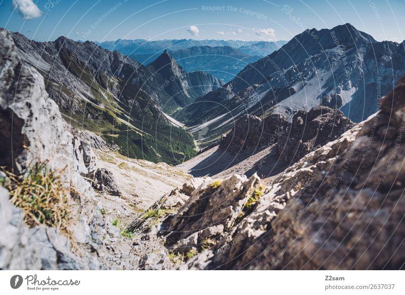 Zamer Loch in den Lechtaler Alpen   E5 Himmel Natur Sommer blau grün Landschaft Ferne Berge u. Gebirge Freiheit Freizeit & Hobby wandern Aussicht Abenteuer