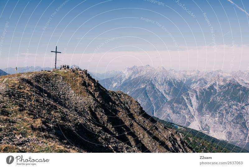 Kreuzjoch | Venet | Pitztaler Alpen Ausflug Abenteuer wandern Menschengruppe Natur Landschaft Sommer Schönes Wetter Berge u. Gebirge Gipfel gigantisch hoch
