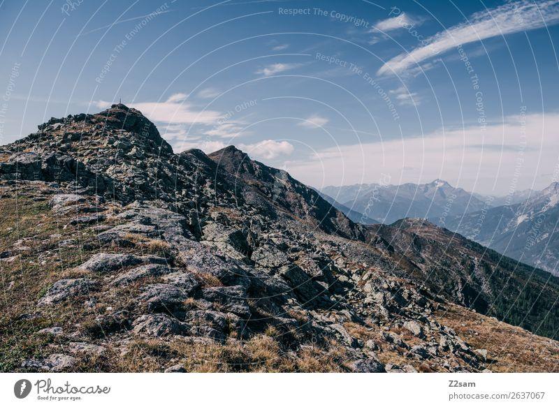 Glanderspitze | Venetberg im Pitztal wandern Natur Landschaft Himmel Sommer Felsen Alpen Berge u. Gebirge Gipfel gigantisch hoch blau Abenteuer Erholung