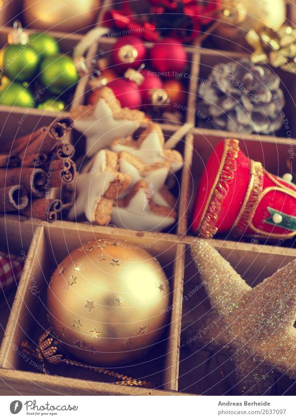 Dekoration Weihnachten Zimtsterne Süßwaren Kräuter & Gewürze Stil Winter Dekoration & Verzierung Weihnachten & Advent Ornament retro Hintergrundbild ribbon