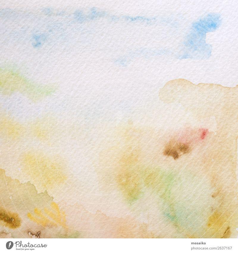 Aquarelle auf Papier Kunst Gemälde Gefühle Euphorie Optimismus Leidenschaft Warmherzigkeit Gelassenheit geduldig ruhig Temperafarbe Bildung Intuition
