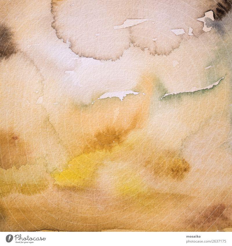 Aquarell auf Papier Design Freizeit & Hobby Basteln Kindererziehung Bildung Kindergarten Schule Kunst Maler Gefühle Stimmung Zufriedenheit Lebensfreude Romantik