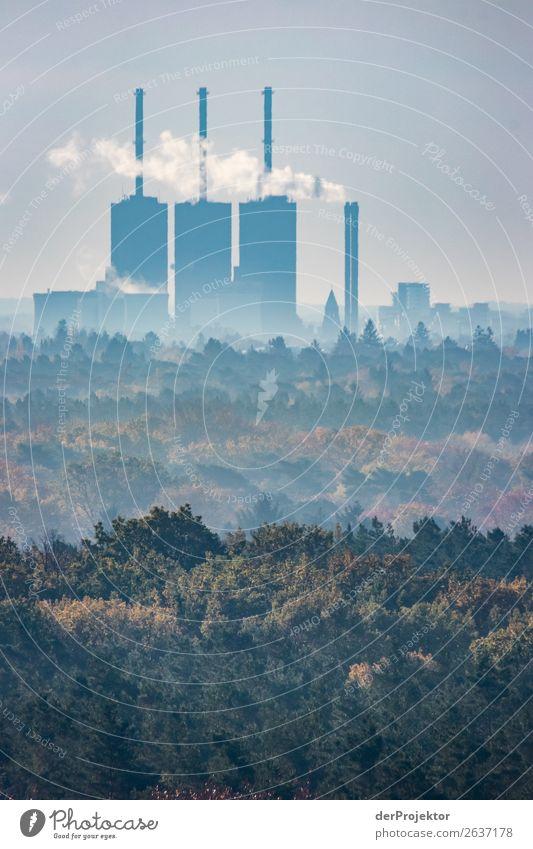 Kraftwerk mit Herbstwald in Berlin Ferien & Urlaub & Reisen Tourismus Ausflug Abenteuer Ferne Freiheit Sightseeing Städtereise wandern Umwelt Landschaft