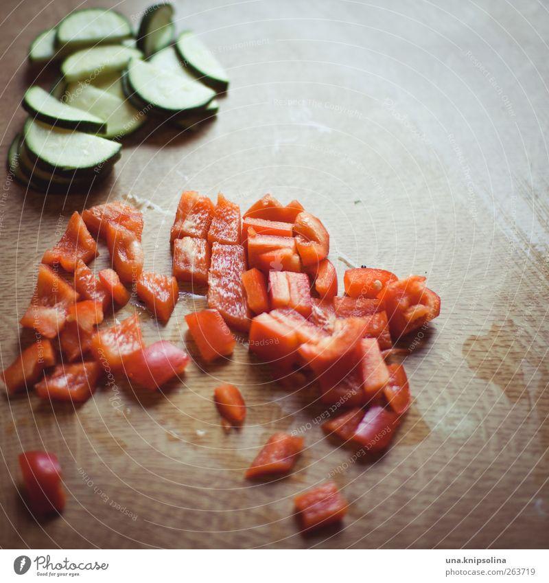 vorbereitung Gesundheit natürlich Lebensmittel frisch Ernährung Gemüse Teile u. Stücke Bioprodukte geschnitten Vegetarische Ernährung Paprika Detailaufnahme