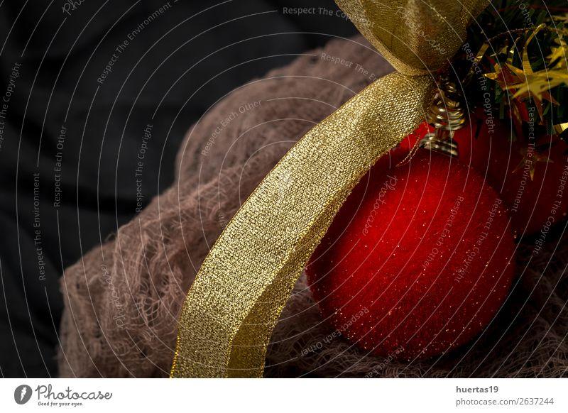 Weihnachtshintergrund mit Dekorationen Stil Design Winter Dekoration & Verzierung Schreibtisch Feste & Feiern Weihnachten & Advent Silvester u. Neujahr Kunst