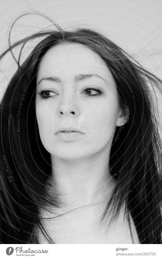 Today's your Day. Mensch Jugendliche schön Erwachsene Leben feminin Kopf Haare & Frisuren ästhetisch authentisch 18-30 Jahre Junge Frau Beautyfotografie