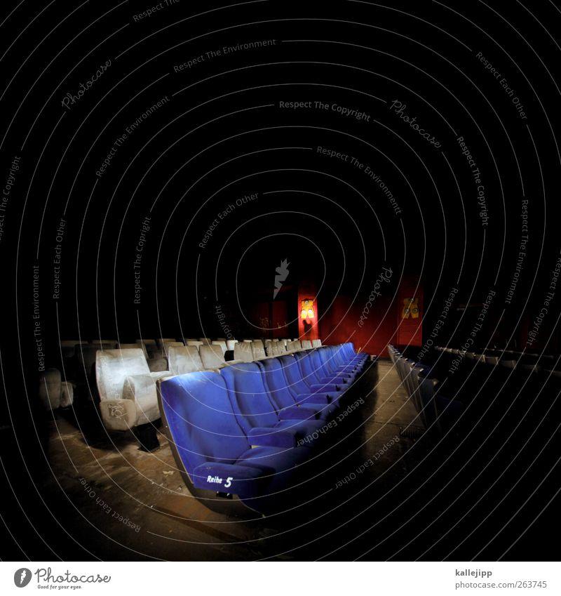 spiel mir das lied vom tod blau leer Kultur 5 Theater Reihe Kino Sitzgelegenheit Polster Kinosaal Kinosessel Platznummer