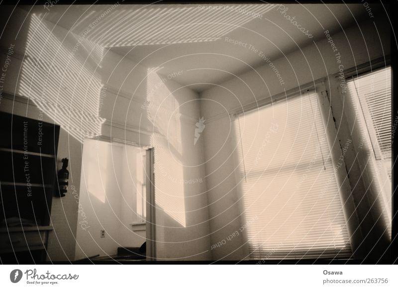 Licht und Schatten ruhig Fenster Wand Gebäude Raum Decke Regal Schattenspiel Jalousie