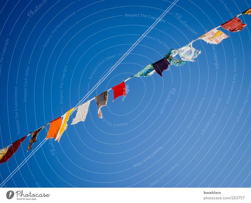 guten Flug Ferien & Urlaub & Reisen Ferne Freiheit Luft Himmel Wolkenloser Himmel Sommer Schönes Wetter Luftverkehr frei blau mehrfarbig Farbfoto Außenaufnahme