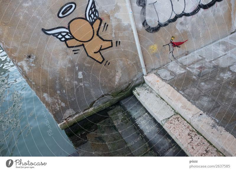 Engel und König Ferien & Urlaub & Reisen Tourismus Ausflug Sightseeing Städtereise Kunst Künstler Kunstwerk Subkultur Venedig Stadt Hafenstadt Stadtzentrum