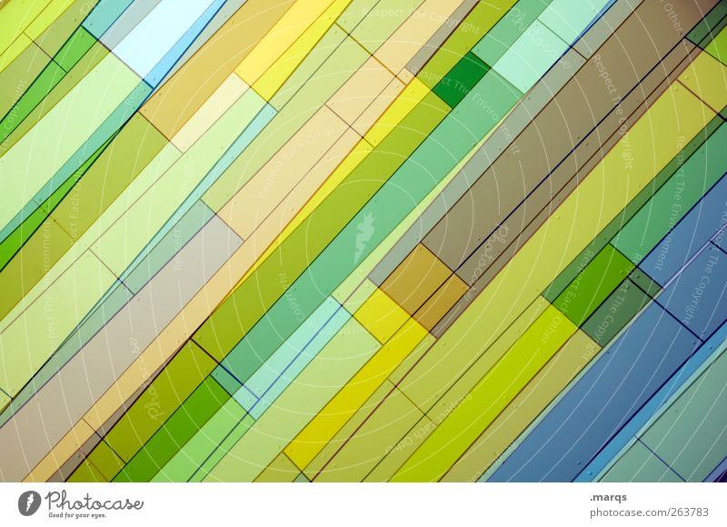 Vielschichtig grün schön Farbe gelb Stil Kunst Linie Hintergrundbild Fassade elegant Design außergewöhnlich frisch Lifestyle Streifen einzigartig