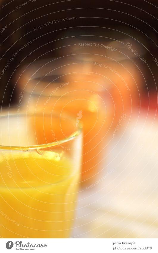 Vielsafttrank rot Freude gelb kalt Feste & Feiern Glas Glas glänzend süß Getränk Tropfen trinken Frühstück Durst Saft sauer