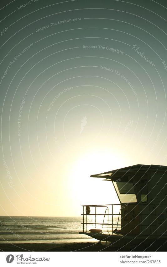 getaway Ferien & Urlaub & Reisen Ausflug Sommer Sommerurlaub Sonne Strand Meer Wolkenloser Himmel Sonnenaufgang Sonnenuntergang Sonnenlicht Schönes Wetter Küste