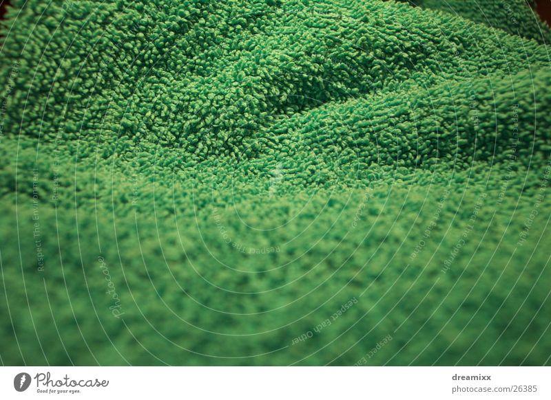 Frottier grün Gras Berge u. Gebirge Landschaft Perspektive Hügel Tuch Handtuch