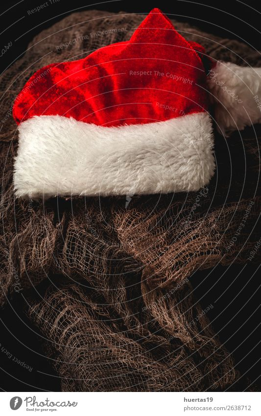 Weihnachtshintergrund mit Dekorationen Winter Dekoration & Verzierung Schreibtisch Feste & Feiern Weihnachten & Advent Silvester u. Neujahr Kunst dunkel