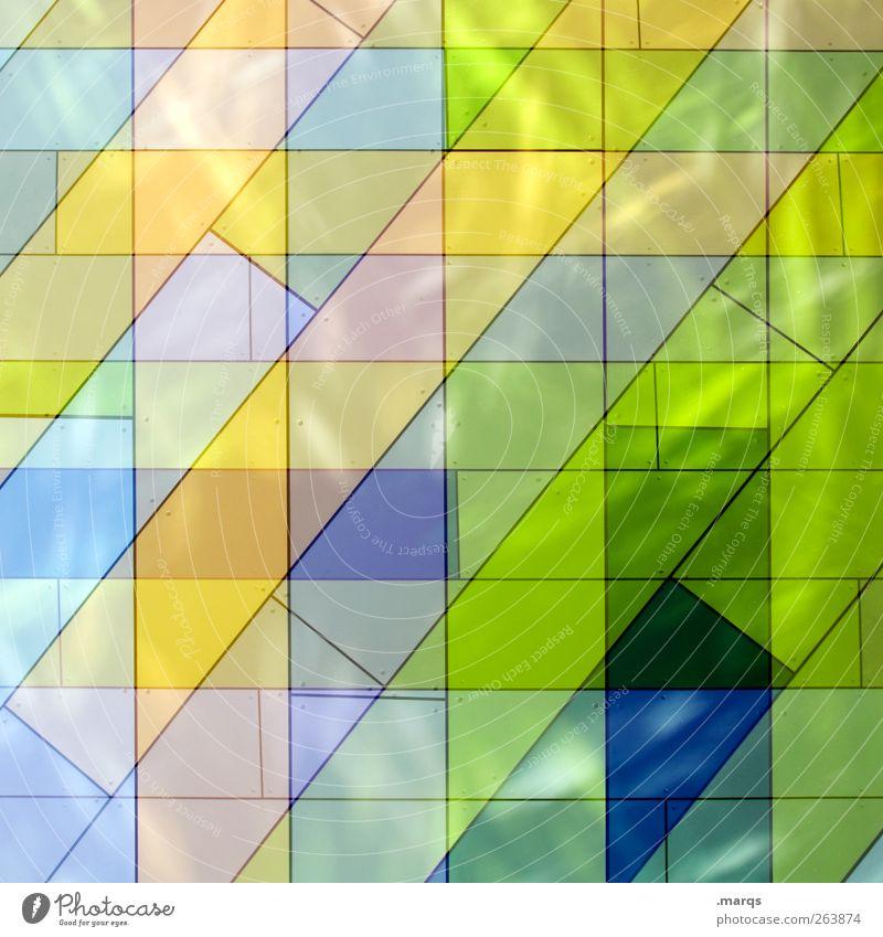 Fresh elegant Stil Design Kunst Fassade Fliesen u. Kacheln Linie leuchten außergewöhnlich frisch einzigartig schön verrückt mehrfarbig chaotisch Farbe