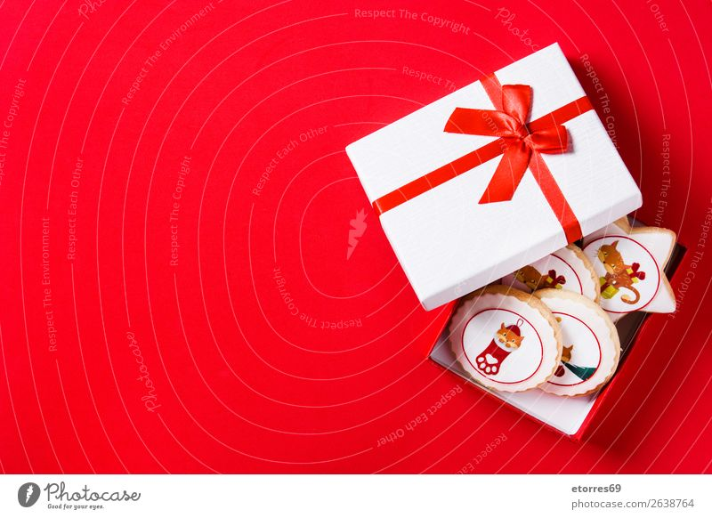 Weihnachtsbutterkekse mit Weihnachtsgrafik verziert Weihnachten & Advent Plätzchen Keks Butter Freude Lebensmittel Gesunde Ernährung Foodfotografie Party