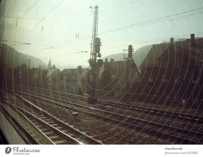 Traveling with Deutsche Bahn Ferien & Urlaub & Reisen Haus Berge u. Gebirge Deutschland Abteilfenster Verkehr Geschwindigkeit fahren Gleise Verkehrswege Bahnhof