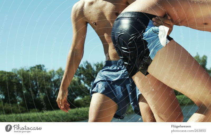 Wir baden nicht in Baden Baden Mensch Jugendliche schön Ferien & Urlaub & Reisen Sonne Meer Sommer Strand Erwachsene Leben Spielen See Freundschaft
