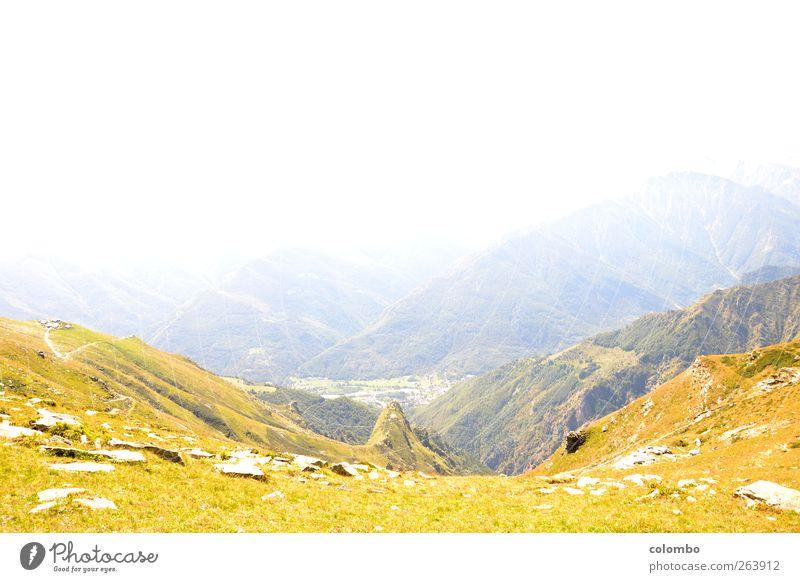 Alpen Natur Ferien & Urlaub & Reisen Sonne Sommer ruhig Ferne Erholung Landschaft Berge u. Gebirge Freiheit Gras Frühling Wetter wandern Ausflug Tourismus