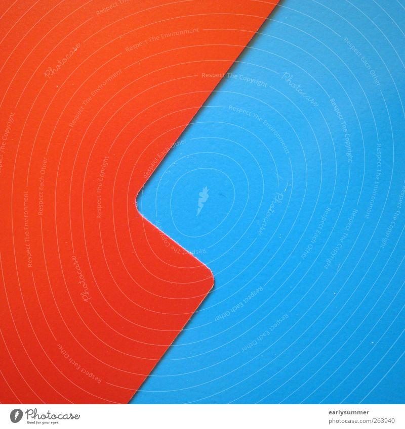 Blitzz blau rot Stil Linie Design außergewöhnlich Nase einzigartig Zeichen Pfeil Blitze Zickzack