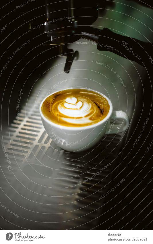 Kaffee in Rauch Getränk Heißgetränk Kakao Latte Macchiato Becher Café Kantine Milchkaffee Kaffeetasse Kaffeemaschine Lifestyle elegant Stil Design Freude Leben