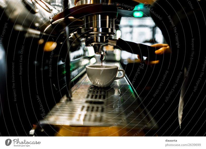 Morgenkaffee 8 Getränk Kaffee Latte Macchiato Espresso Becher Kaffeemaschine Café Kantine elegant Stil Design Freude Leben harmonisch Freizeit & Hobby Abenteuer