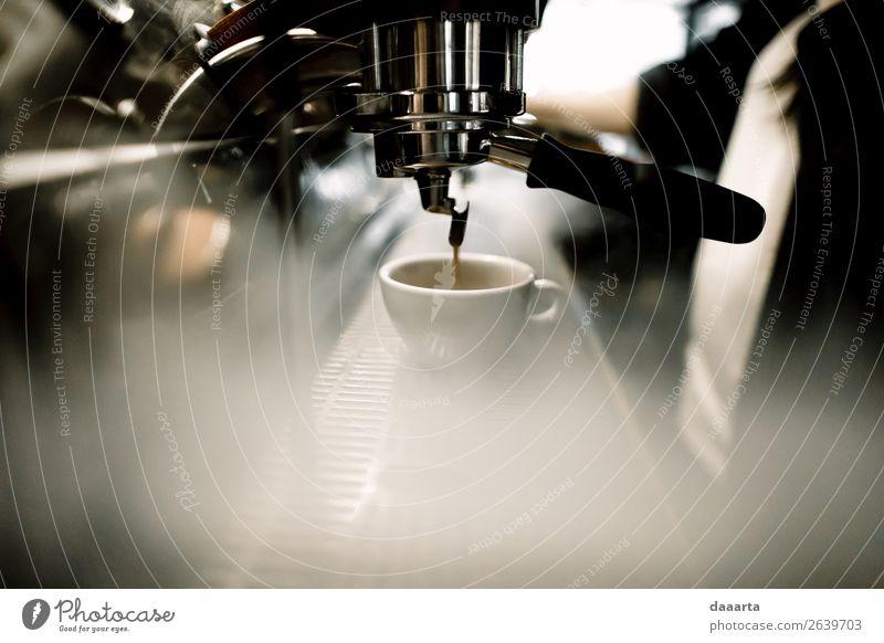 Morgenkaffee 2 Getränk trinken Heißgetränk Kaffee Latte Macchiato Espresso Becher Kaffeemaschine elegant Stil Design Freude Leben harmonisch Freizeit & Hobby