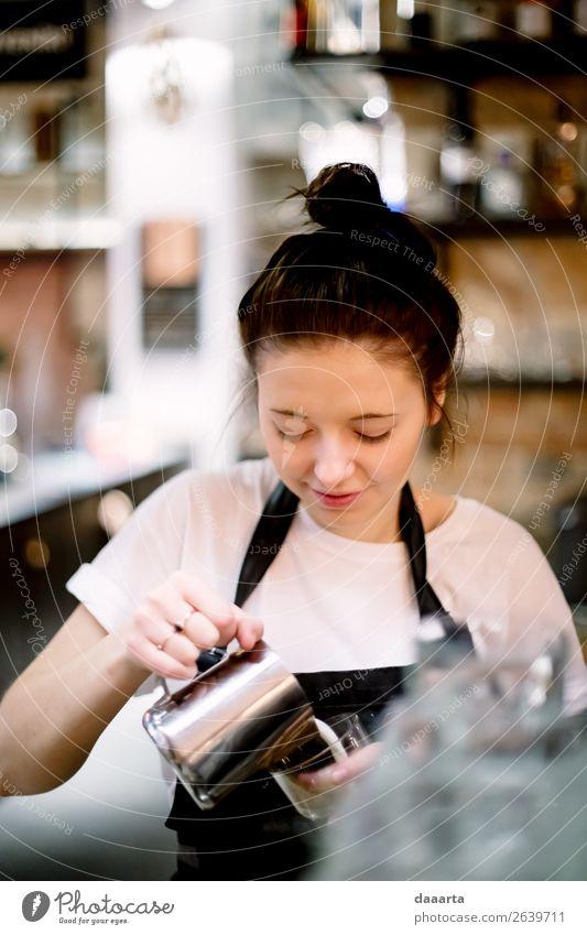 barista 4 Getränk Heißgetränk Kaffee Latte Macchiato Espresso Lifestyle elegant Stil Design Freude Leben stimmig Freizeit & Hobby Café Kantine Milchkaffee