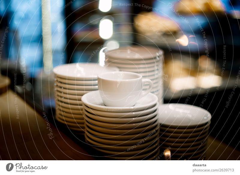 Geschirr Teller Becher Lifestyle elegant Stil Leben harmonisch Freizeit & Hobby Wohnung Traumhaus Küche Veranstaltung Restaurant Bar Cocktailbar Feste & Feiern