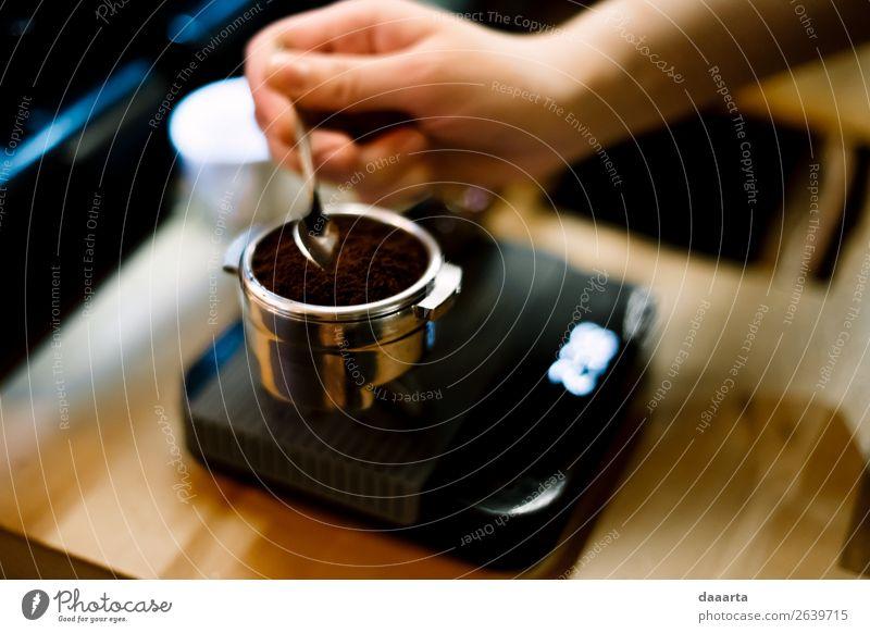 Kaffeemorgen Getränk Heißgetränk Latte Macchiato Espresso Löffel Skala Lifestyle elegant Stil Freude Leben harmonisch Freizeit & Hobby Freiheit Veranstaltung
