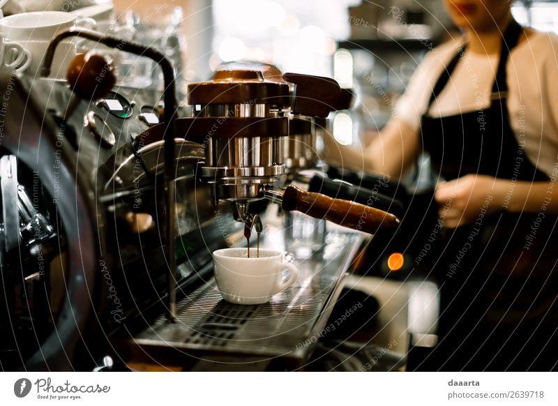 Morgenkaffee 7 Getränk Heißgetränk Kakao Kaffee Latte Macchiato Espresso Becher Kaffeemaschine Café Kantine Lifestyle elegant Stil Freude Leben harmonisch