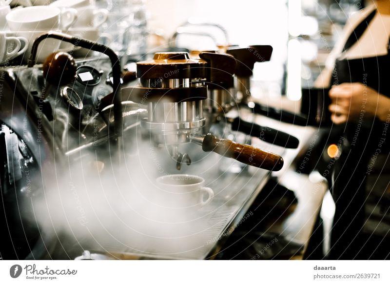 Morgenkaffee 6 Getränk Heißgetränk Kakao Kaffee Latte Macchiato Espresso Kaffeemaschine Café Kantine Becher Lifestyle elegant Stil Freude Leben harmonisch